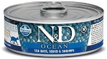N&D CAT OCEAN Adult Sea Bass & Squid & Shrimps 80g - 1 + 1 ZDARMA