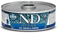 N&D CAT OCEAN Kitten Codfish & Shrimps & Pumpkin 80g