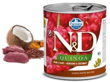 N&D DOG QUINOA Adult Venison & Coconut 285g - 1 + 1 ZDARMA