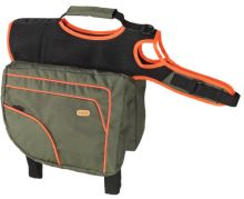 Batoh Karlie pro psy zelená/oranžová XL - délka 36cm, šířka 30cm, obvod 70-106cm