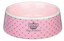 DOG PRINCESS - keramická miska růžová 0,45l/16cm