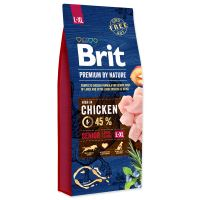 BRIT Premium by Nature Senior L+XL 15kg + obojek FORESTO 70cm