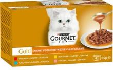 Gourmet Gold Sauce Delight Hovězí, Tuňák, Kuře, Losos 4x85g