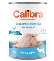 Calibra Dog konzerva Junior kuře s hnědou rýží 400g