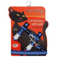 Postroj RD s vodítkem - kočka - Cosmos Blue