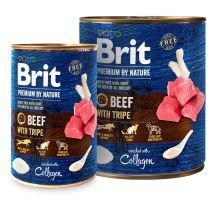 Brit Premium Dog by Nature konzerva Beef & Tripe 400g