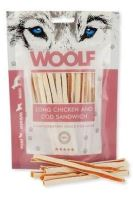 WOOLF pochoutka soft chicken, cod sandwich long 100g