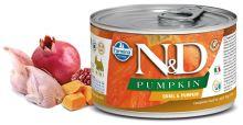 N&D DOG PUMPKIN Adult Quail & Pumpkin Mini 140g - 1 + 1 ZDARMA