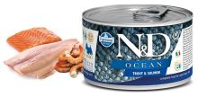 N&D DOG OCEAN Adult Trout & Salmon Mini 140g 1 + 1 ZDARMA