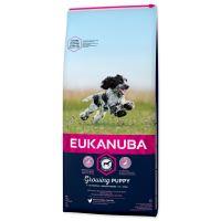 EUKANUBA Puppy & Junior Medium 15kg + FLEXI VODÍTKO ZDARMA!
