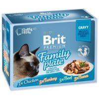 Kapsičky BRIT Premium Cat Delicate Fillets in Gravy Family Plate 1020g