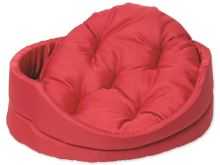 Pelech DOG FANTASY ovál s polštářem červený