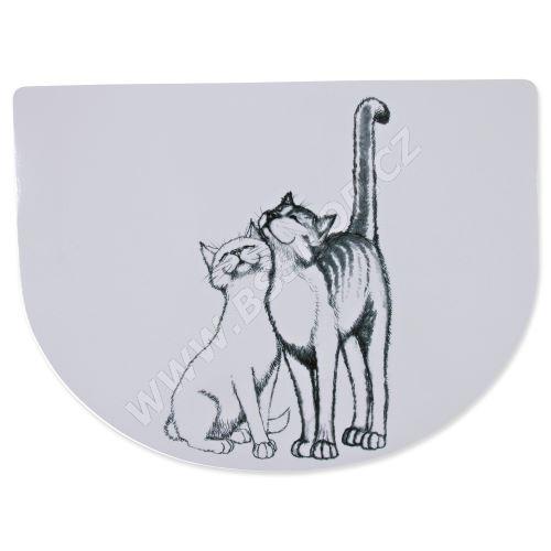Prostírání s mazlícími se kočkami 40x30cm