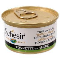 Konzerva SCHESIR Cat tuňák + mořská řasa v želé 85g