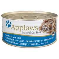 APPLAWS konzerva Cat tuňák a krab 70g