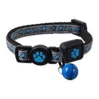 Obojek ACTIV CAT Reflective modrý XS