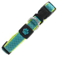 Obojek ACTIV DOG Fluffy Reflective tyrkysový S
