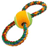 Přetahovadlo DOG FANTASY osmička barevné + tenisák 25cm