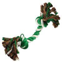 Uzel DOG FANTASY bavlněný zeleno-bílý 2 knoty 20cm