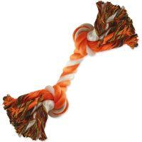 Uzel DOG FANTASY bavlněný oranžovo-bílý 2 knoty 20cm