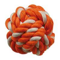 Hračka DOG FANTASY míč bavlněný oranžovo-bílý 12,5cm