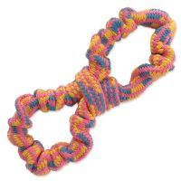 Přetahovadlo DOG FANTASY osmička barevné vzor 2 - 25 cm 1ks