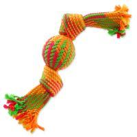 Přetahovadlo DOG FANTASY barevné míč 2 knoty 40cm