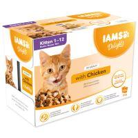 Kapsičky IAMS Kitten delights chicken in gravy Multipack 12x85g