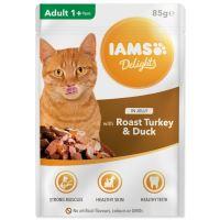 Kapsička IAMS Cat delights krocan a kachna v želé 85g