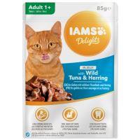 Kapsička IAMS Cat delights tuňák a sleď v želé 85g
