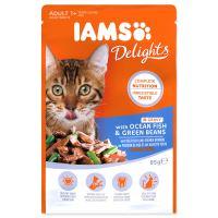 Kapsička IAMS Cat delights mořské ryby a zelené fazolky v omáčce 85g