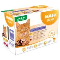 Kapsičky IAMS výběr ze suchozemských mas v omáčce Multipack 12x85g