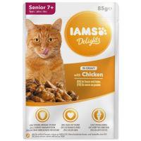 Kapsička IAMS Cat Senior delights kuřecí v omáčce 85g