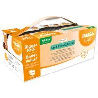 Kapsičky IAMS výběr z mořských a suchozemských mas v omáčce Multipack 48x85g