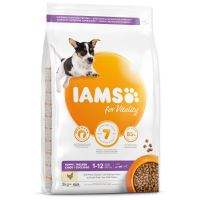 IAMS Dog Puppy Small & Medium Chicken 3kg