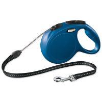 Vodítko FLEXI Classic New lanko modré M 8m