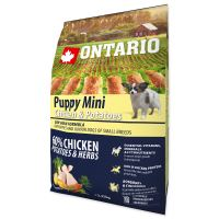 ONTARIO Puppy Mini Chicken & Potatoes & Herbs 2,25kg