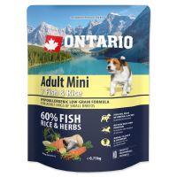 ONTARIO Adult Mini Fish & Rice 750g