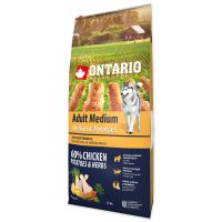 ONTARIO Dog Adult Medium Chicken & Potatoes & Herbs 12kg