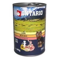 Konzerva ONTARIO s jehněčím masem, rýží a slunečnicovým olejem 400g