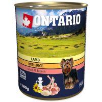 Konzerva ONTARIO s jehněčím masem, rýží a slunečnicovým olejem 800g