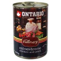 Konzerva ONTARIO Culinary Minestrone Chicken and Pork 400g