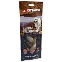 Snack ONTARIO Dog Rawhide Snack Chicken Braid 20cm