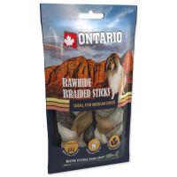 Snack ONTARIO Dog Rawhide Snack Fish skin braid 12cm