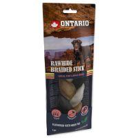 Snack ONTARIO Dog Rawhide Snack Green tea  Braid 20cm