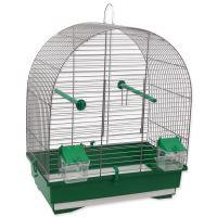 Klec BIRD JEWEL KS8 šedá + zelená 40x25,5x47,5cm