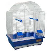 Klec BIRD JEWEL K9 bílá + modrá 45x33,5x59cm