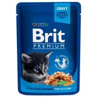 Kapsička BRIT Premium kitten chicken chunks 100g
