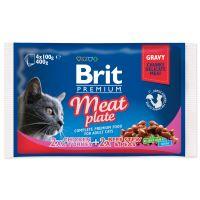 BRIT Premium Cat Meat Plate kapsičky 400g