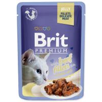 Kapsička BRIT Premium Cat Delicate Fillets in Jelly with Beef 85g
